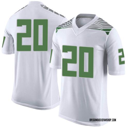 Men's Nike Jayvaun Wilson Oregon Ducks Limited White Football College Jersey