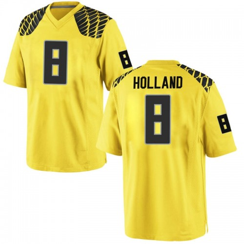 Men's Nike Jevon Holland Oregon Ducks Game Gold Football College Jersey
