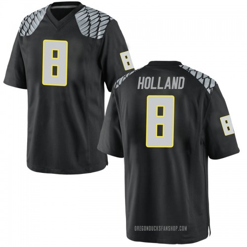 Men's Nike Jevon Holland Oregon Ducks Replica Black Football College Jersey
