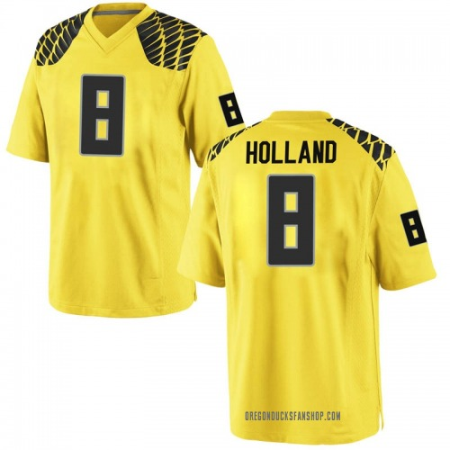 Men's Nike Jevon Holland Oregon Ducks Replica Gold Football College Jersey
