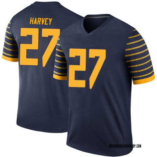 Men's Nike John Harvey Oregon Ducks Legend Navy Football College Jersey