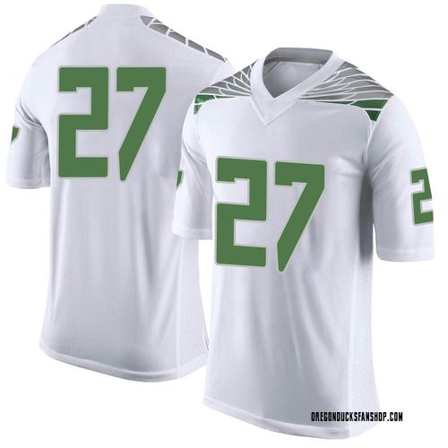 Men's Nike John Harvey Oregon Ducks Limited White Football College Jersey