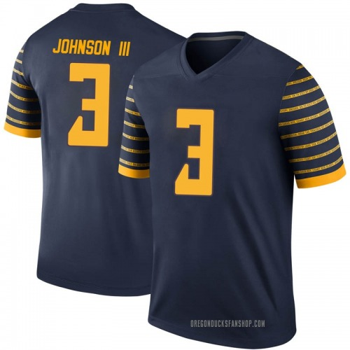 Men's Nike Johnny Johnson III Oregon Ducks Legend Navy Football College Jersey