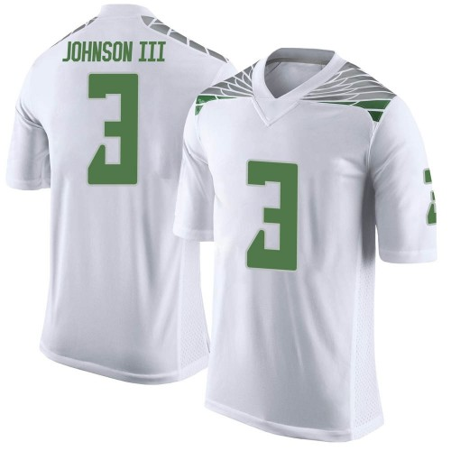 Men's Nike Johnny Johnson III Oregon Ducks Limited White Football College Jersey