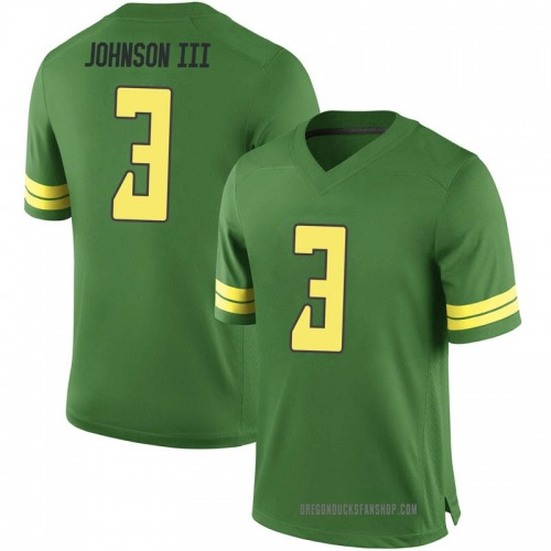 Men's Nike Johnny Johnson III Oregon Ducks Replica Green Football College Jersey