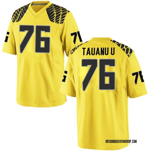 Men's Nike Jonah Tauanu'u Oregon Ducks Game Gold Football College Jersey