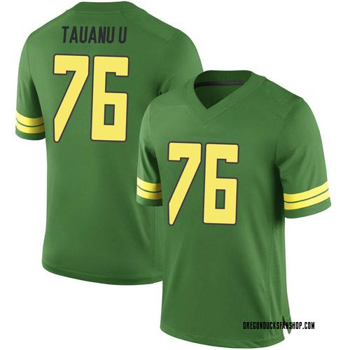 Men's Nike Jonah Tauanu'u Oregon Ducks Game Green Football College Jersey
