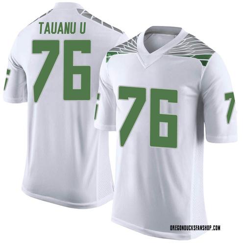 Men's Nike Jonah Tauanu'u Oregon Ducks Limited White Football College Jersey