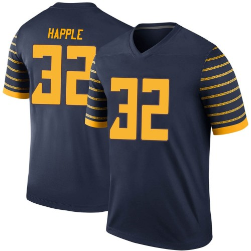 Men's Nike Jordan Happle Oregon Ducks Legend Navy Football College Jersey