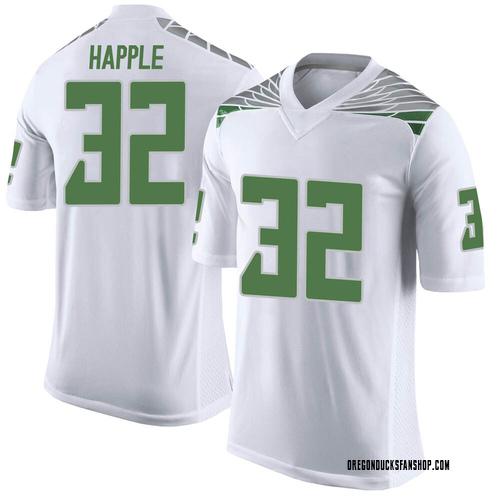 Men's Nike Jordan Happle Oregon Ducks Limited White Football College Jersey