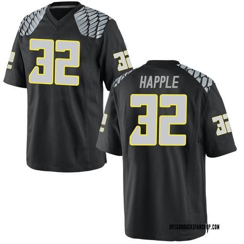 Men's Nike Jordan Happle Oregon Ducks Replica Black Football College Jersey