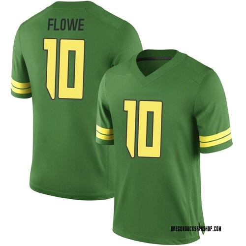 Men's Nike Justin Flowe Oregon Ducks Game Green Football College Jersey