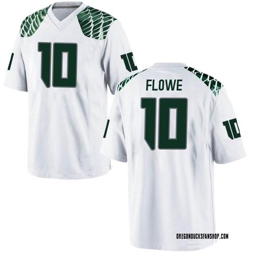 Men's Nike Justin Flowe Oregon Ducks Game White Football College Jersey