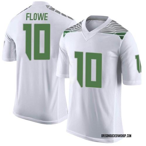 Men's Nike Justin Flowe Oregon Ducks Limited White Football College Jersey