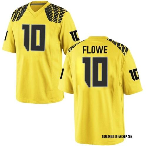 Men's Nike Justin Flowe Oregon Ducks Replica Gold Football College Jersey