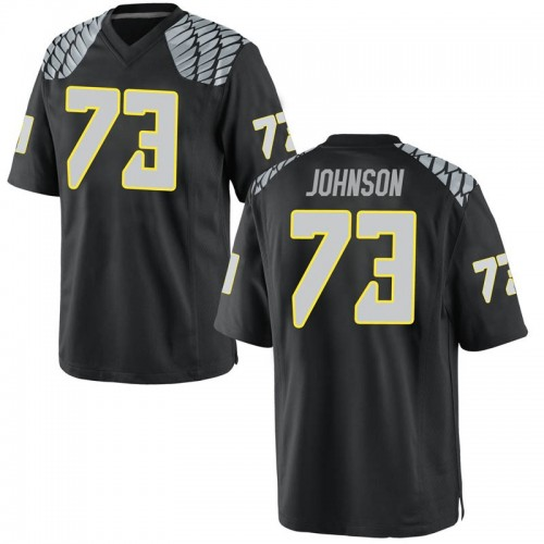 Men's Nike Justin Johnson Oregon Ducks Game Black Football College Jersey