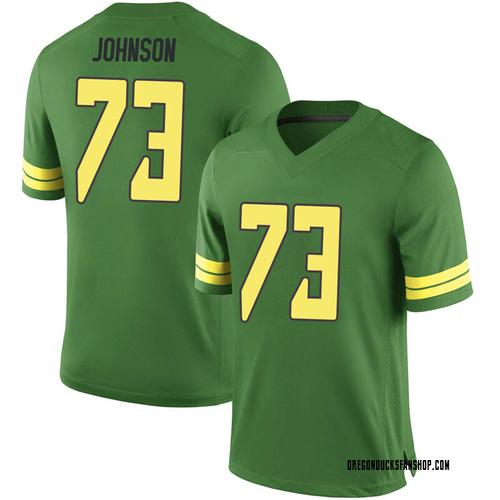 Men's Nike Justin Johnson Oregon Ducks Game Green Football College Jersey