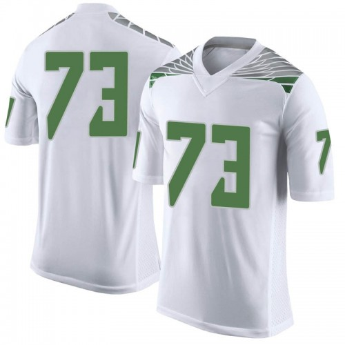 Men's Nike Justin Johnson Oregon Ducks Limited White Football College Jersey