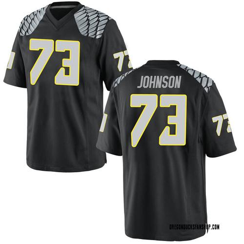 Men's Nike Justin Johnson Oregon Ducks Replica Black Football College Jersey