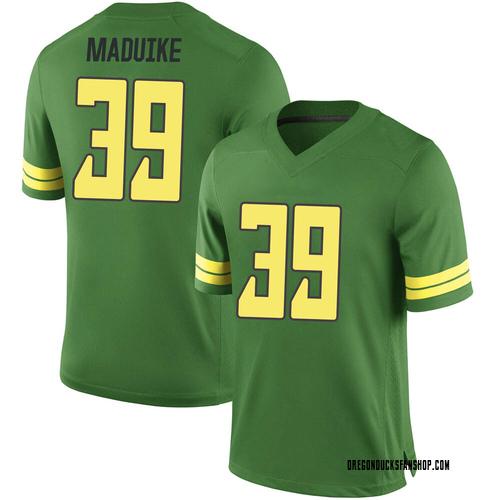 Men's Nike KJ Maduike Oregon Ducks Game Green Football College Jersey