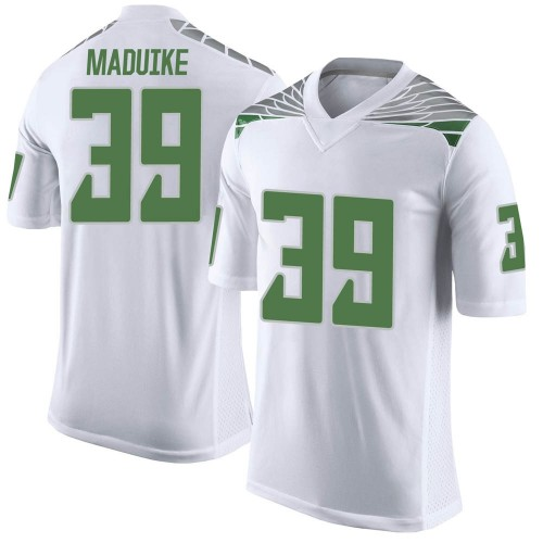 Men's Nike KJ Maduike Oregon Ducks Limited White Football College Jersey