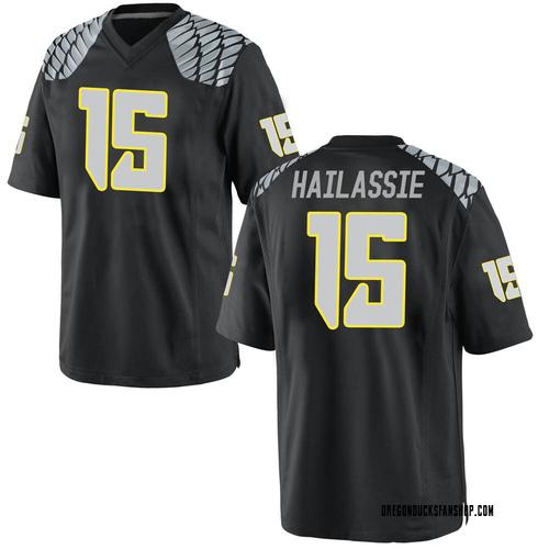 Men's Nike Kahlef Hailassie Oregon Ducks Game Black Football College Jersey