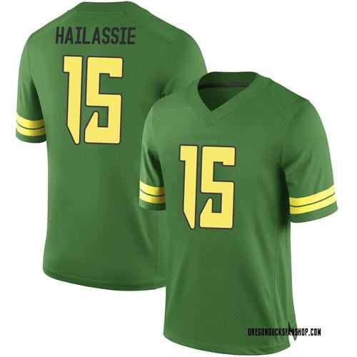 Men's Nike Kahlef Hailassie Oregon Ducks Game Green Football College Jersey