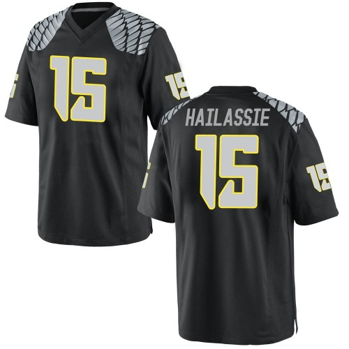 Men's Nike Kahlef Hailassie Oregon Ducks Replica Black Football College Jersey