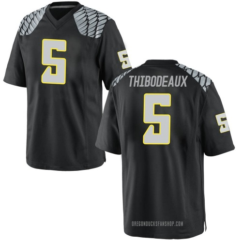 Men's Nike Kayvon Thibodeaux Oregon Ducks Game Black Football College Jersey