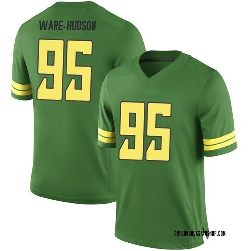 Men's Nike Keyon Ware-Hudson Oregon Ducks Game Green Football College Jersey