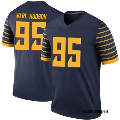 Men's Nike Keyon Ware-Hudson Oregon Ducks Legend Navy Football College Jersey
