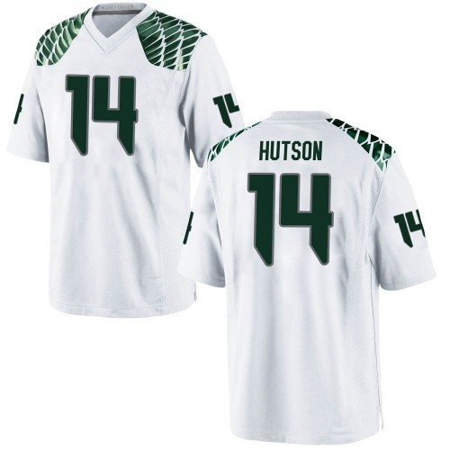 Men's Nike Kris Hutson Oregon Ducks Replica White Football College Jersey
