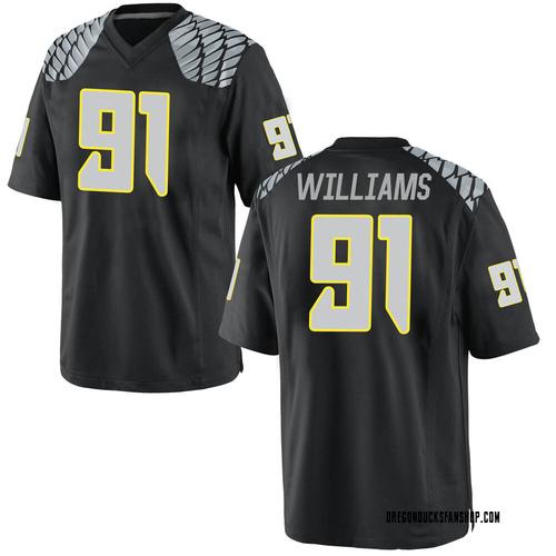 Men's Nike Kristian Williams Oregon Ducks Game Black Football College Jersey