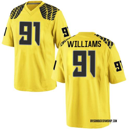 Men's Nike Kristian Williams Oregon Ducks Game Gold Football College Jersey