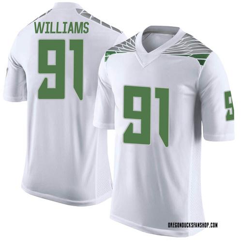 Men's Nike Kristian Williams Oregon Ducks Limited White Football College Jersey