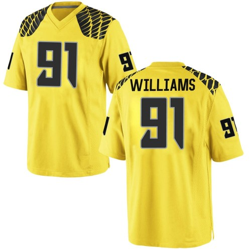 Men's Nike Kristian Williams Oregon Ducks Replica Gold Football College Jersey