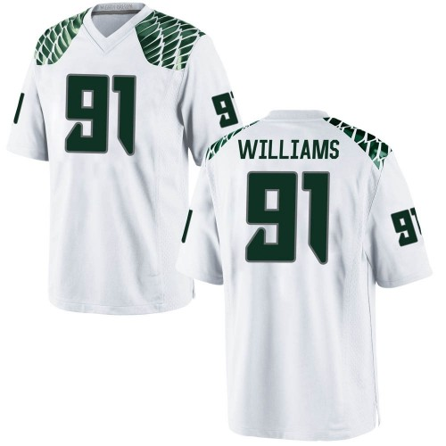 Men's Nike Kristian Williams Oregon Ducks Replica White Football College Jersey