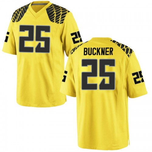 Men's Nike Kyle Buckner Oregon Ducks Game Gold Football College Jersey