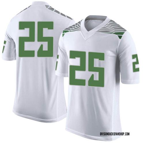 Men's Nike Kyle Buckner Oregon Ducks Limited White Football College Jersey