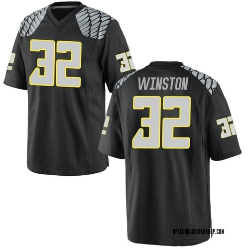 Men's Nike La'Mar Winston Jr. Oregon Ducks Game Black Football College Jersey