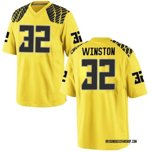 Men's Nike La'Mar Winston Jr. Oregon Ducks Game Gold Football College Jersey