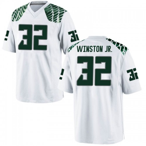 Men's Nike La'Mar Winston Jr. Oregon Ducks Game White Football College Jersey