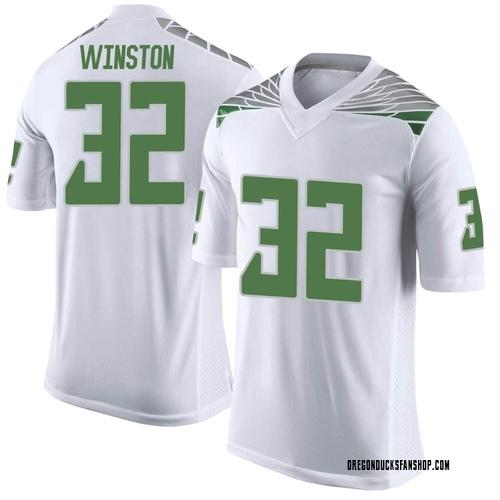 Men's Nike La'Mar Winston Jr. Oregon Ducks Limited White Football College Jersey