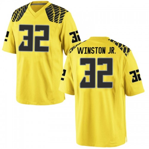 Men's Nike La'Mar Winston Jr. Oregon Ducks Replica Gold Football College Jersey
