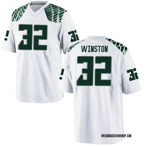 Men's Nike La'Mar Winston Jr. Oregon Ducks Replica White Football College Jersey