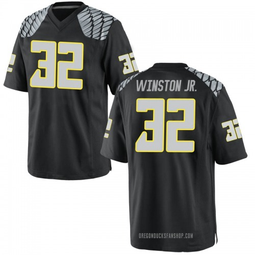 Men's Nike Lamar Winston Oregon Ducks Replica Black Football College Jersey