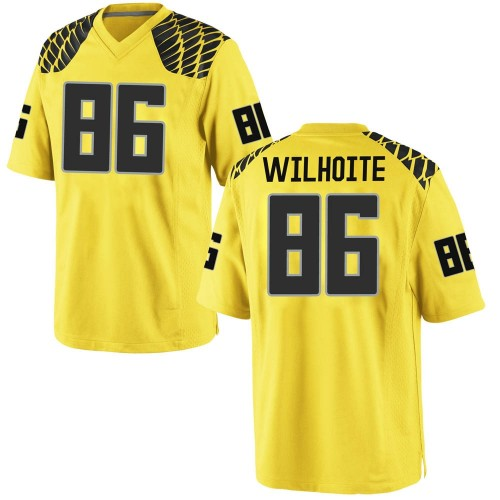 Men's Nike Lance Wilhoite Oregon Ducks Game Gold Football College Jersey