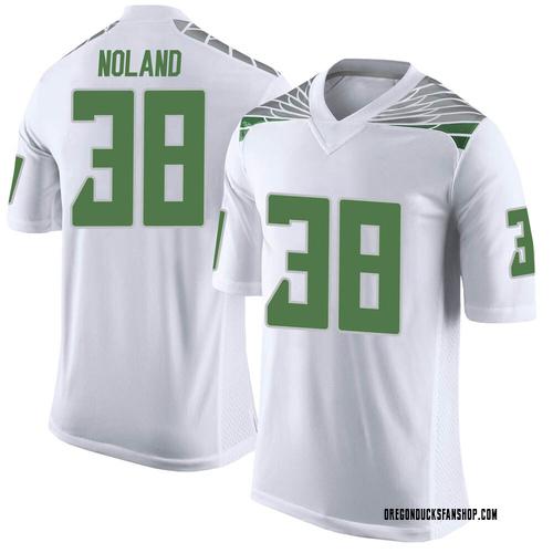 Men's Nike Lucas Noland Oregon Ducks Limited White Football College Jersey