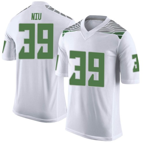 Men's Nike MJ Cunningham Oregon Ducks Limited White Football College Jersey