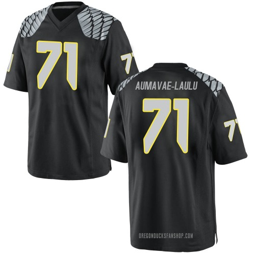 Men's Nike Malaesala Aumavae-Laulu Oregon Ducks Game Black Football College Jersey